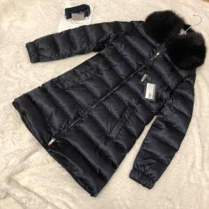 Prada Winterjack zwart-donkerblauw Bont