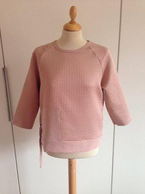 Zara Jersey de cuello redondo rosa empolvado