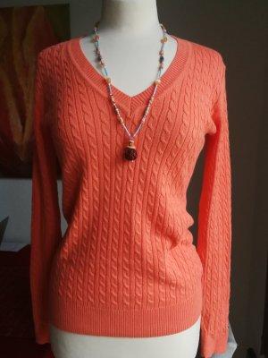 Tommy Hilfiger V-Neck Sweater light orange