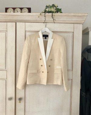 Mango Tuxedo Blazer cream-natural white