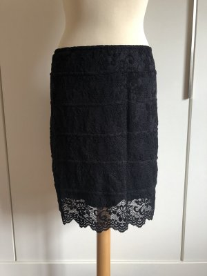 Jus d'Orange Lace Skirt black