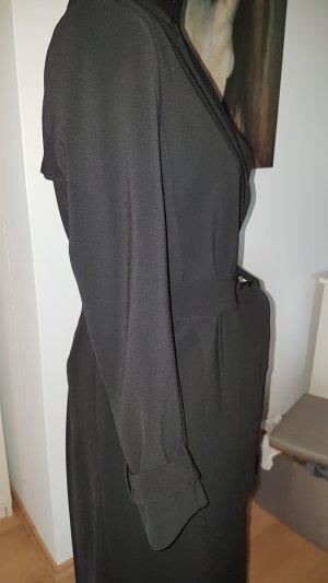 H&M Between-Seasons-Coat black cotton