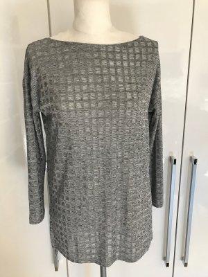 Neuwertiger Zara Pullover Gr.S Gr.36 silber Glitzer Shirt
