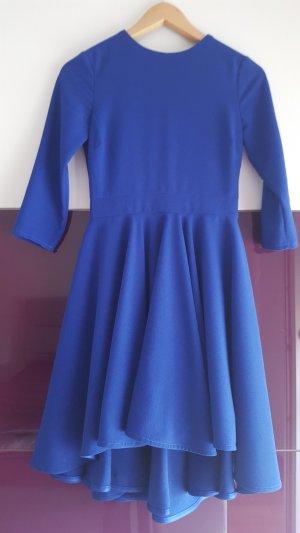 neuwertiges blaues Party Kleid im Vokuhilastyle von asos Gr. XS