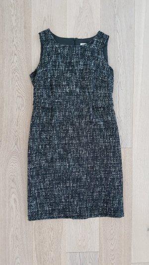 Neuwertiges Christian Berg Etuikleid Wolle Alpaca bouclé schwarz grau Kleid 42 40