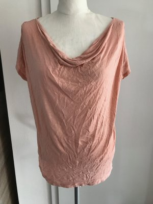 H&M Cowl-Neck Shirt nude-pink