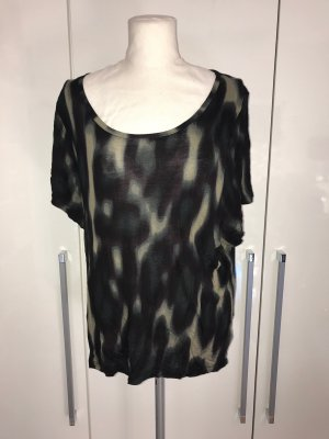 H&M Batik shirt zwart