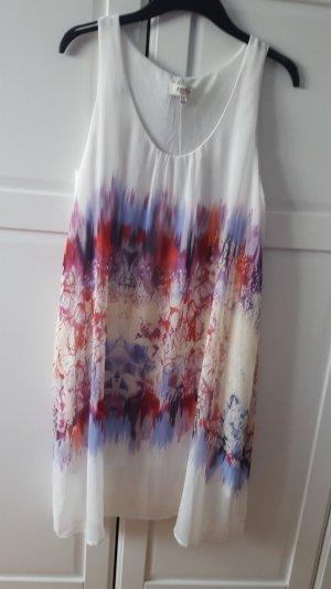 Robe chiffon blanc-rose