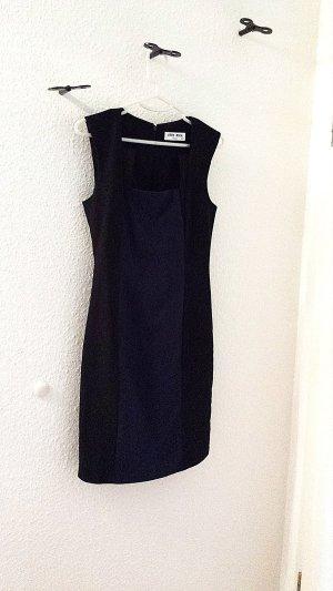 Neuwertiges Kleid von VERO MODA dunkelblau&schwarz, Gr.36