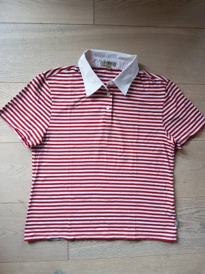 Neuwertiges Original Burberry Poloshirt Polo Shirt XL Gr. 42 44 rot weiß ORIGINAL