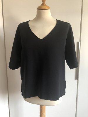 Hallhuber Donna V-hals shirt zwart