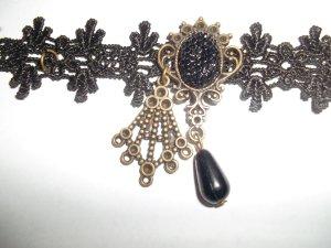 Tobillera negro-color bronce