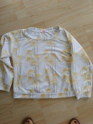Blugirl Folies Kraagloze sweater wit-sleutelbloem