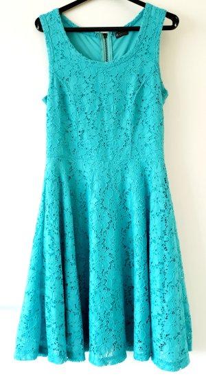 Laura Scott Kanten jurk turkoois Gemengd weefsel