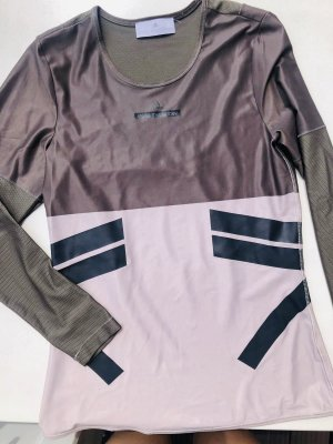Adidas by Stella McCartney Top à manches longues beige-gris vert