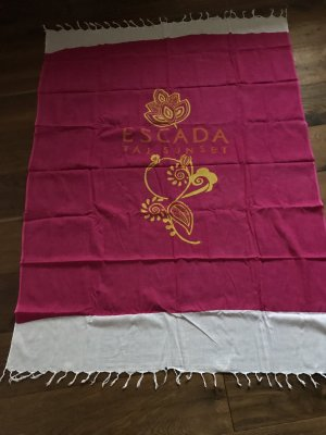 Escada Beach Towel raspberry-red-natural white