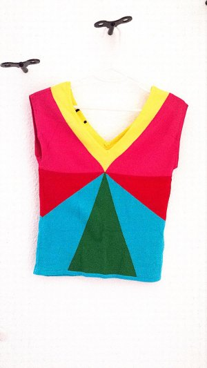 H&M Knitted Top multicolored viscose