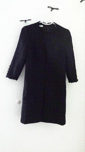 Neuwertiges Tweed Dress von Mango, schwarz, Gr.34/36