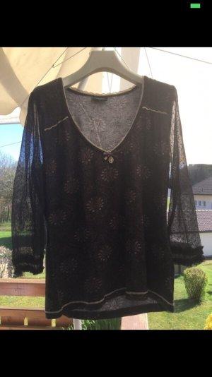 neuwertiges Vive Maria Shirt schwarz mit Spitze