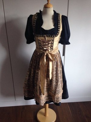 Dirndl black-gold-colored