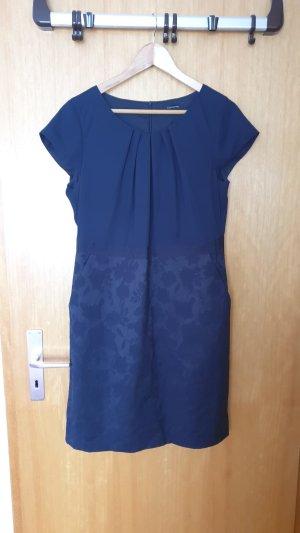 Comma Vestido de cóctel azul oscuro-azul Algodón