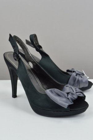 High Heel Sandal black-grey