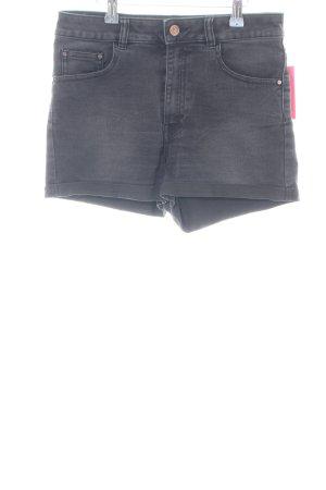 Never Denim High-Waist-Shorts light grey casual look