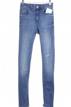 Never Denim Slim Jeans stahlblau Casual-Look