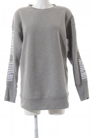 Never Denim Sweatshirt grau-weiß meliert Urban-Look