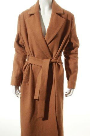 Never Denim Wintermantel hellbraun Street-Fashion-Look