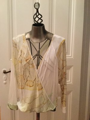 Oversized blouse veelkleurig Modal