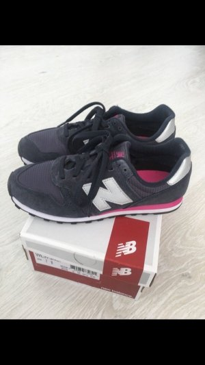New Balance 373 Schuhe, dunkel-blau, pink, silber, 37,5