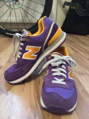 New balance 574 lila turnschuhe sneakers größe 38