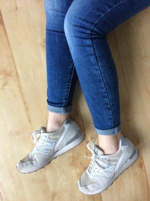 New Balance 996 Sneakers beige silber Leder Größe 37