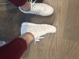 New balance all white 40