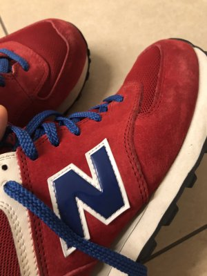 New Balance Lace-Up Sneaker dark red