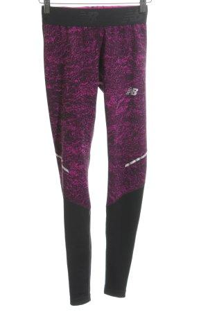 New Balance Leggings schwarz-violett Farbverlauf sportlicher Stil