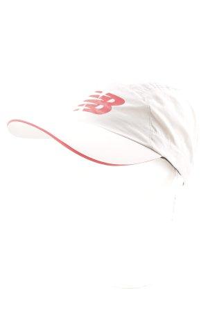 New Balance Schirmmütze hellgrau-dunkelrot Webmuster Casual-Look