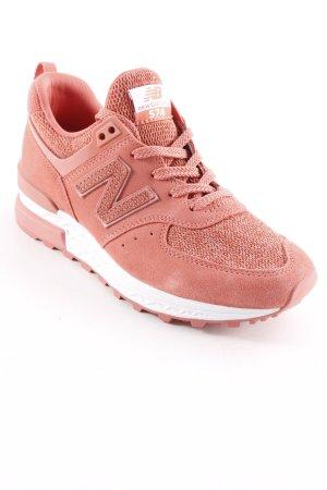 New Balance Schnürschuhe lachs-weiß Street-Fashion-Look