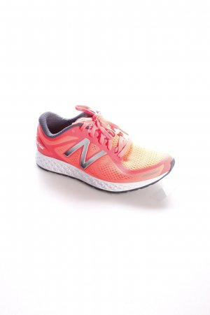 New Balance Schnürsneaker neonorange Logo-Applikation