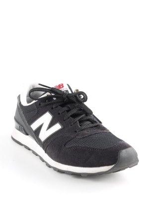 New Balance Schnürsneaker schwarz-weiß sportlicher Stil