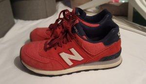 New Balance Sneaker rot Veloursleder/Stoff