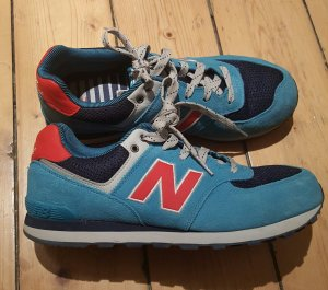 New Balance Sneakers 574 Gr. 38 blau rot