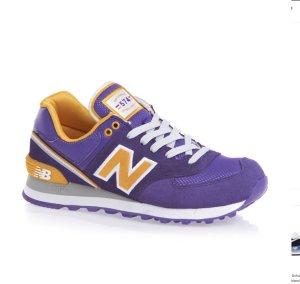 New Balance Sneaker stringata lilla-arancione chiaro