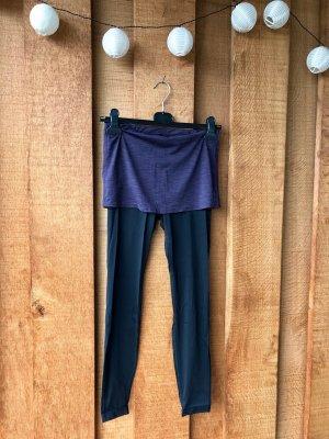 New Balance pantalonera negro-carmín poliamida