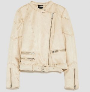 Zara Biker Jacket cream-natural white