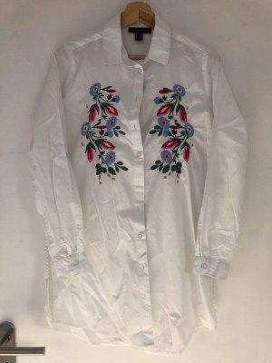 new Bluse white bestickt M 38
