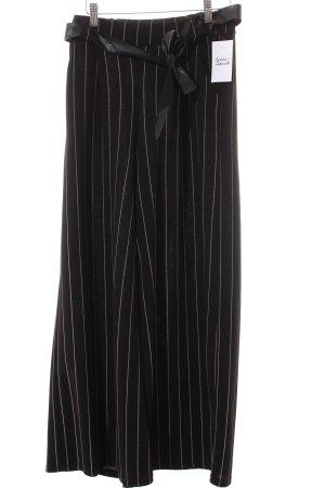 new collection Falda pantalón de pernera ancha negro raya diplomática