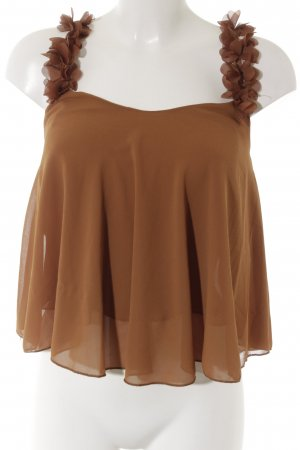 new collection Rüschen-Bluse cognac Elegant