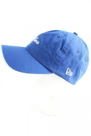 New Era Baseballpet blauw geborduurde letters atletische stijl